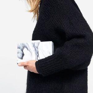 "NWT Zara ""Marble"" Box Clutch"